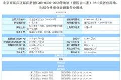 延庆曾流拍地块今日33.2亿元出让住房均价限定不